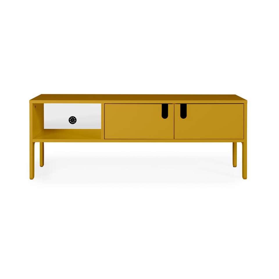 Tenzo tv-meubel Uno 2-deurs - mosterdgeel - 50x137x40 cm