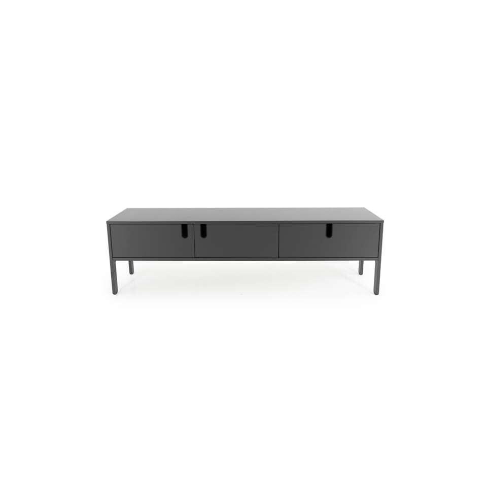 Tenzo tv-meubel Uno 2 deuren en 1 lade - grijs - 50x171x46 cm - Leen Bakker