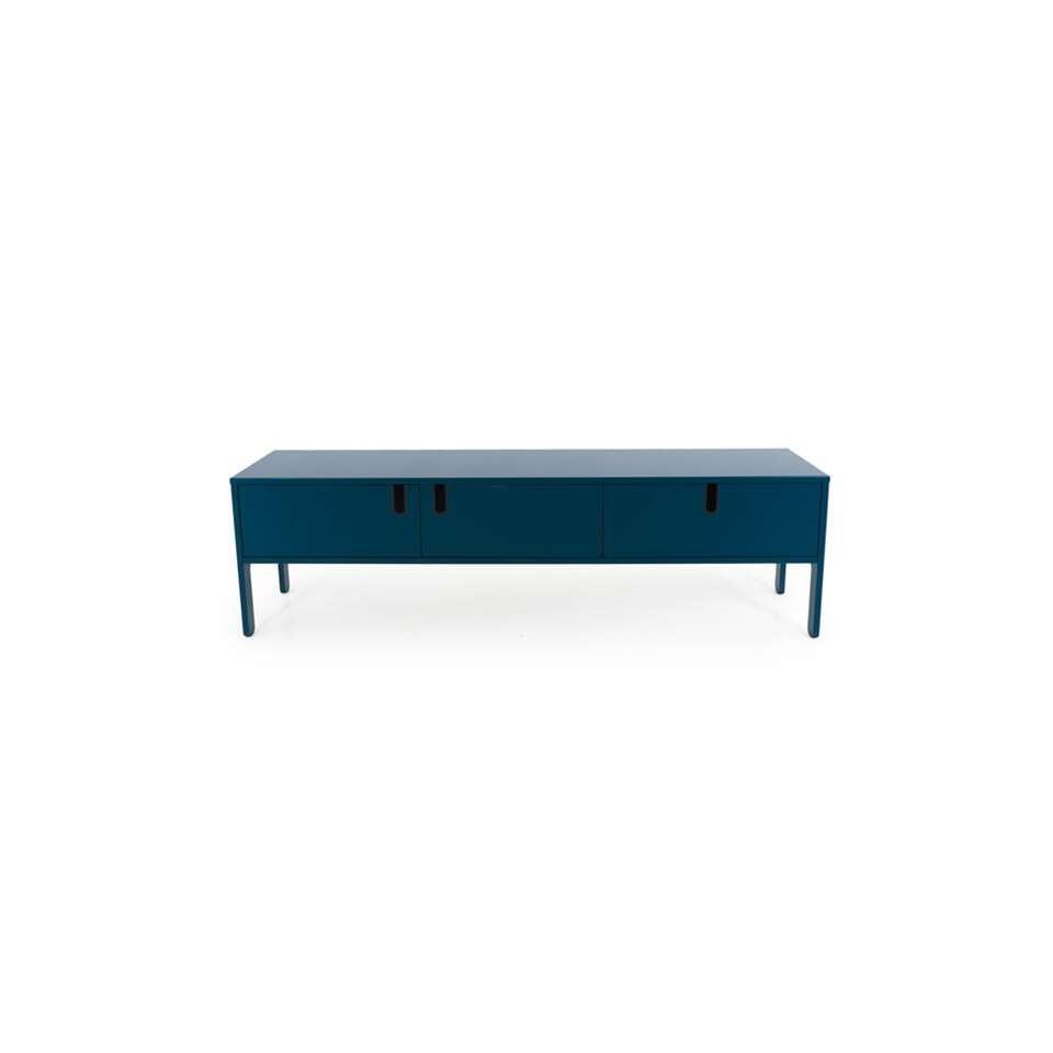 Tenzo tv-meubel Uno 2 deuren en 1 lade - petrol - 50x171x46 cm