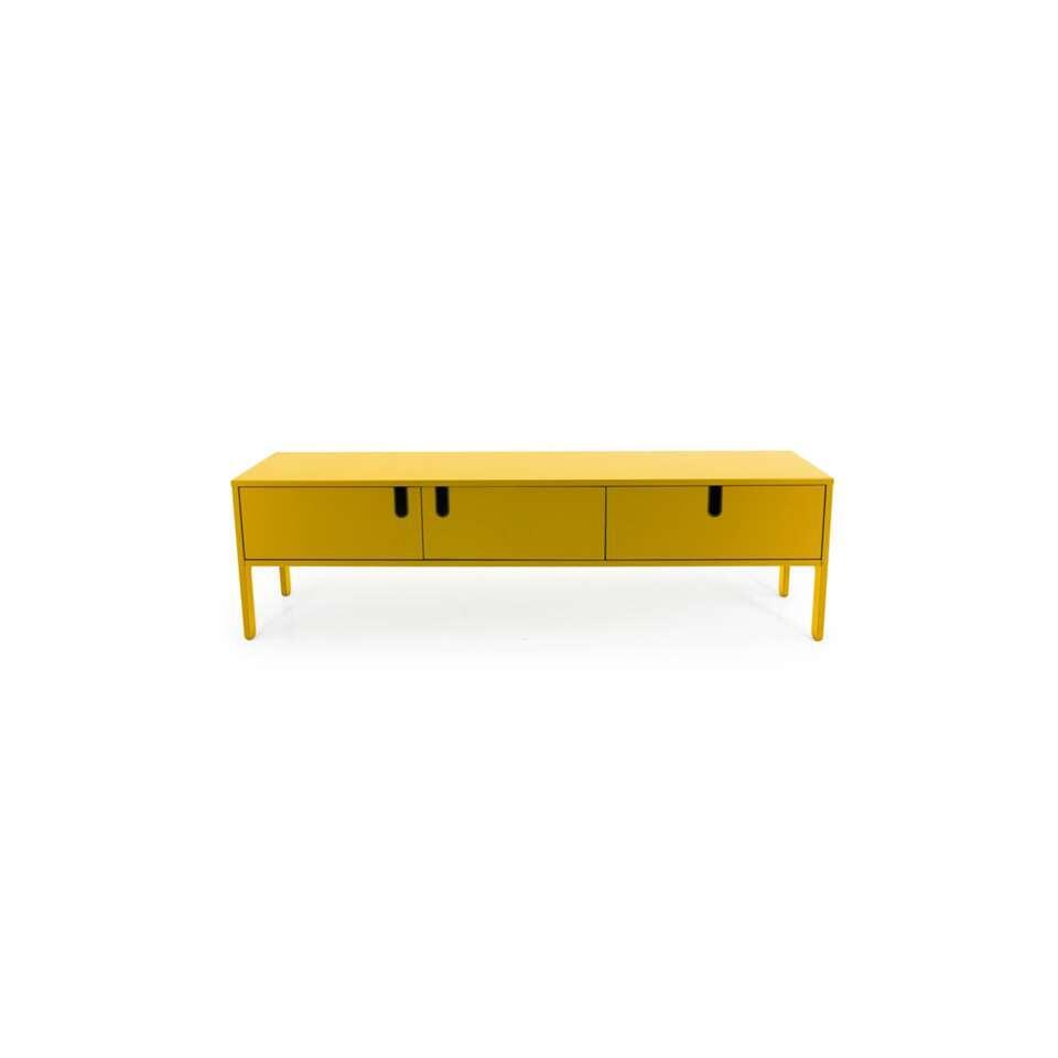 Tenzo tv-meubel Uno 2 deuren en 1 lade - mosterd - 50x171x46 cm