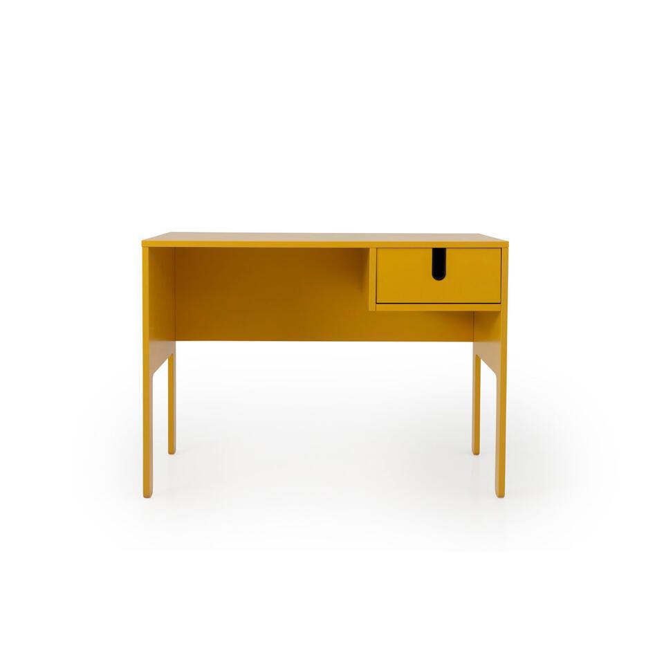 Tenzo bureau Uno - mosterdgeel - 75x105x50 cm