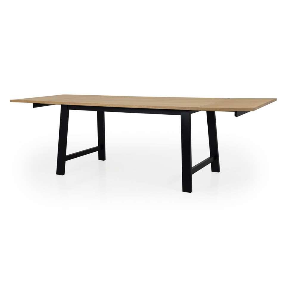 Zwarte Uitschuifbare Eettafel.Tenzo Uitschuifbare Eetkamertafel Lex Eiken Zwart 75x160x90 Cm