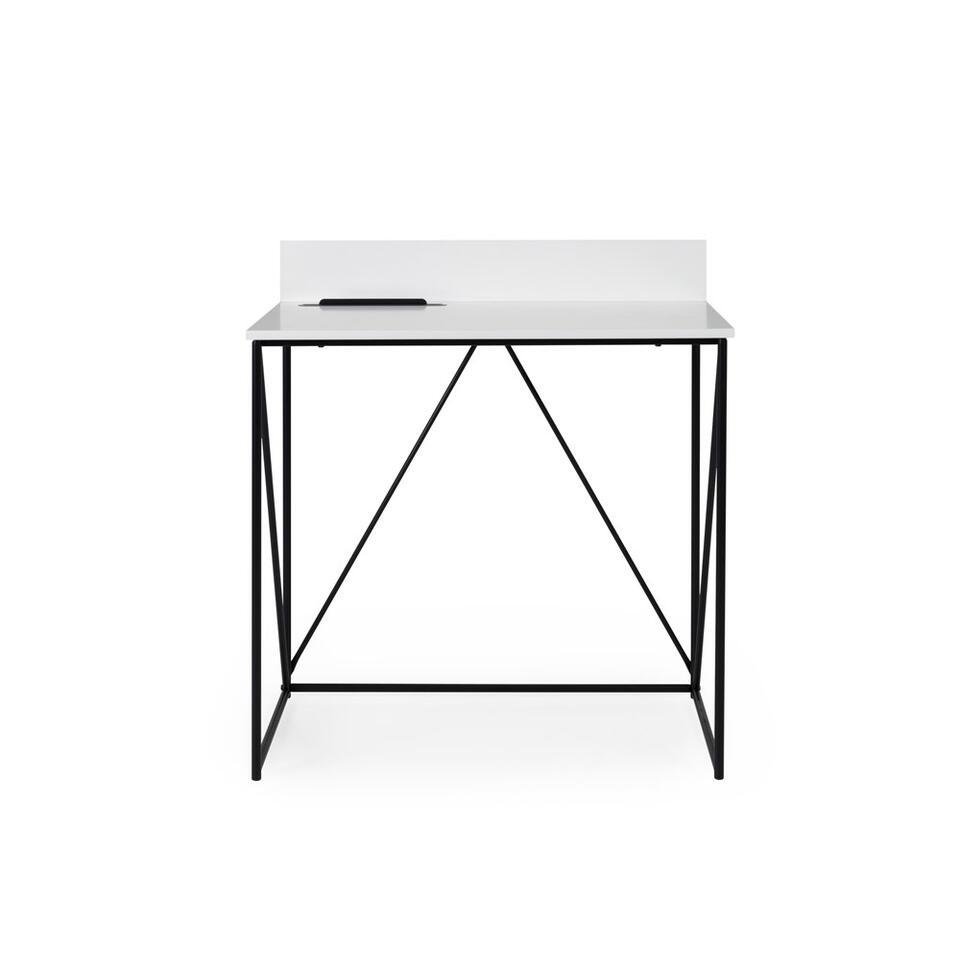 Tenzo bureau Tell - blanc/noir - 86x80x48 cm