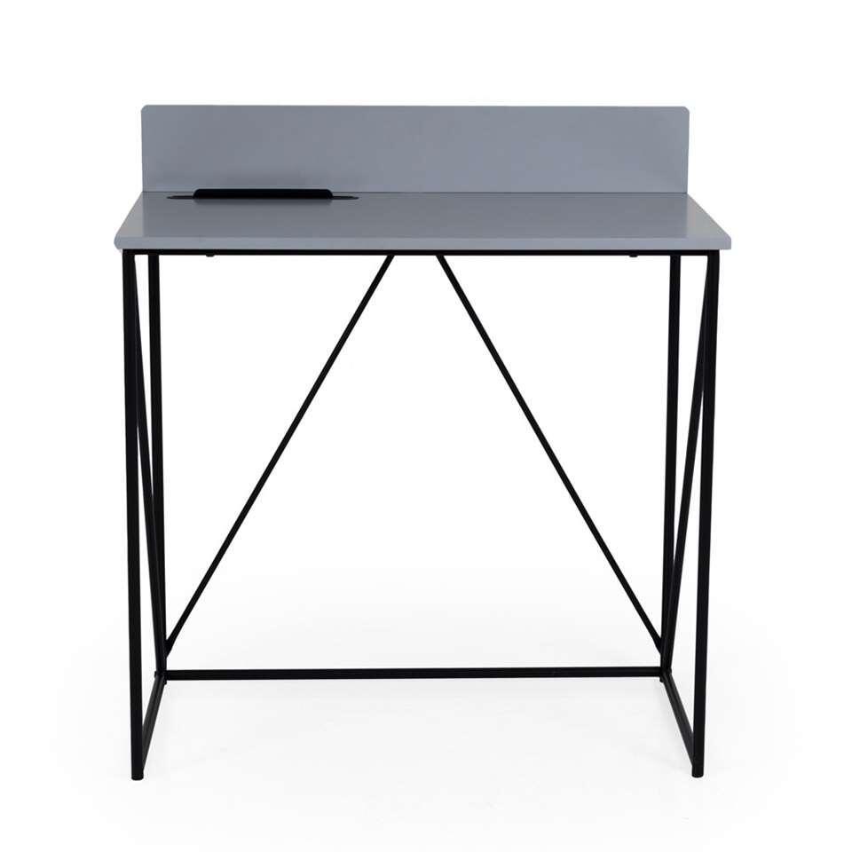 Tenzo bureau Tell - grijs/zwart - 86x80x48 cm - Leen Bakker