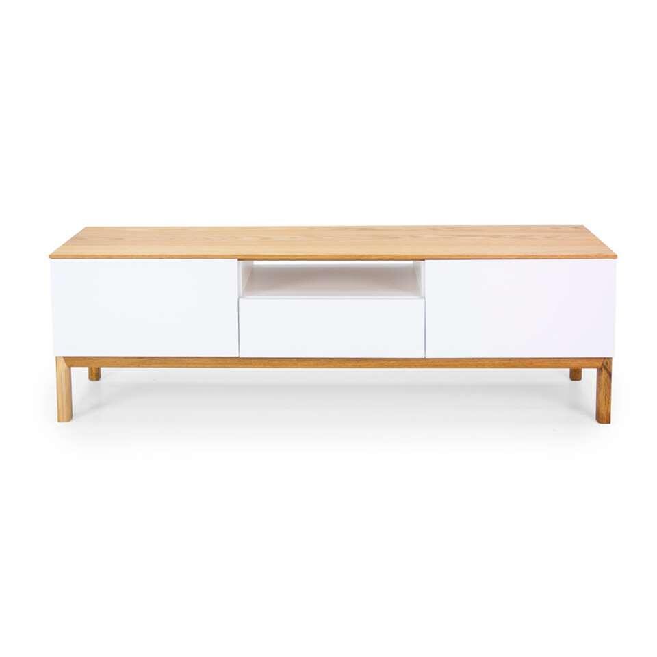 Tenzo tv-meubel Patch - eikenkleur/wit/eikenkleur - 56x179x47 cm