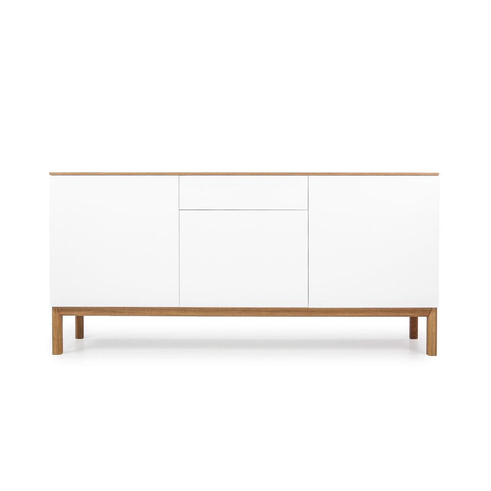 Tenzo dressoir Patch 3 deuren en 1 lade - eikenkleur/wit/eikenkleur - 85x179x47 cm