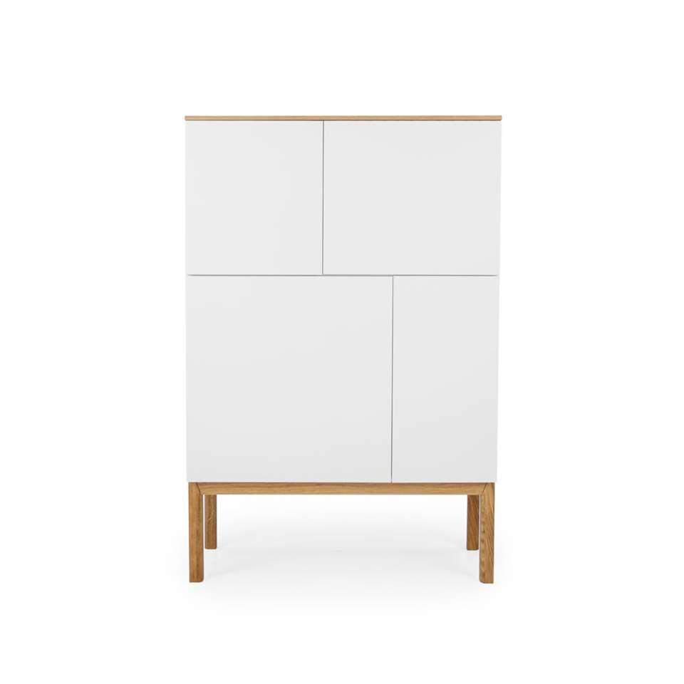 Tenzo wandkast Patch - eikenkleur/wit/eikenkleur - 138x92x40 cm