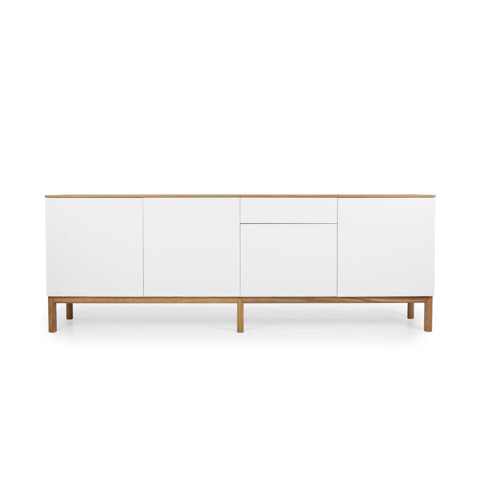 Tenzo dressoir Patch 4 deuren en 1 lade - eikenkleur/wit-eikenkleur - 85x238,5x47 cm