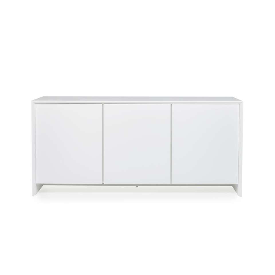 Tenzo dressoir Profil 3-deurs - wit - 80x173x47 cm - Leen Bakker