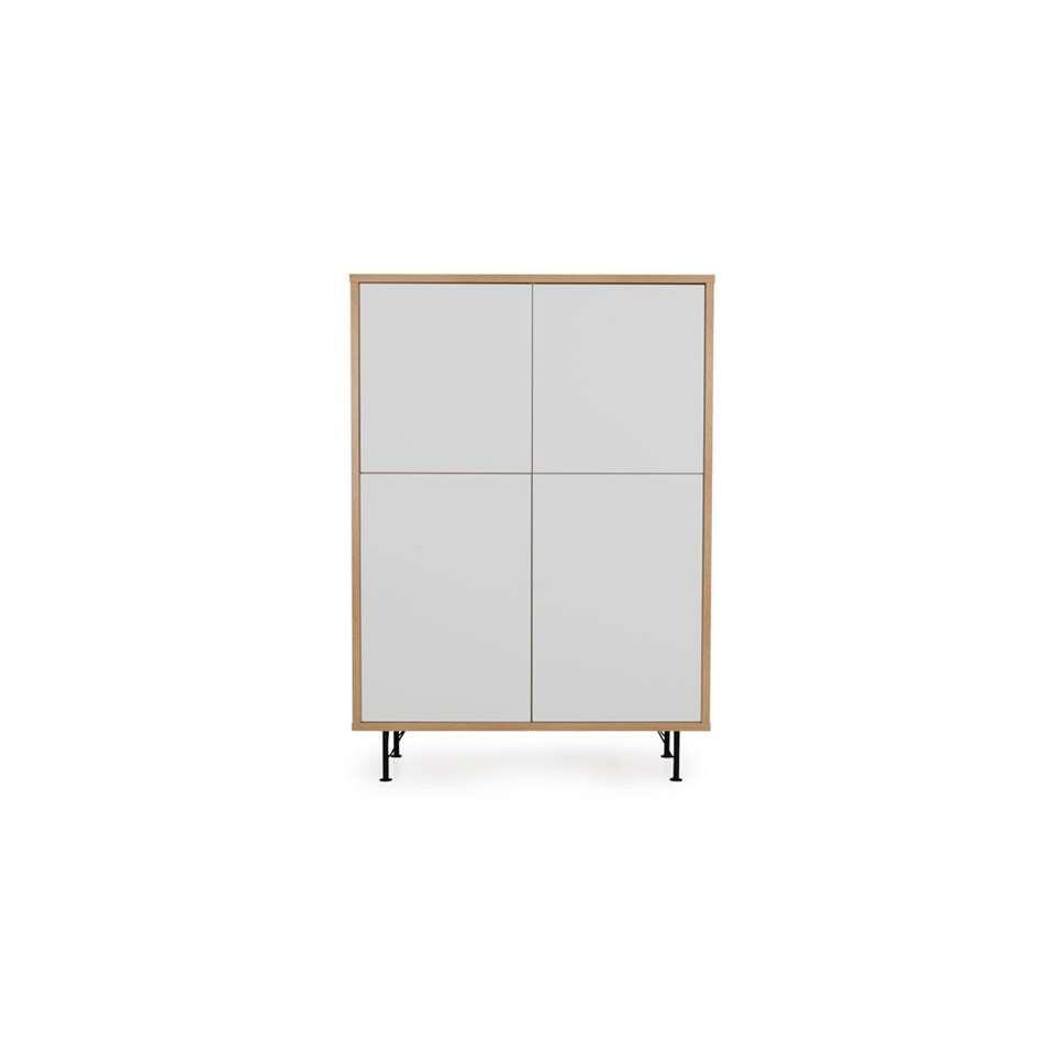 Tenzo rangement mural Flow - couleur chêne/blanc - 156x111x44 cm