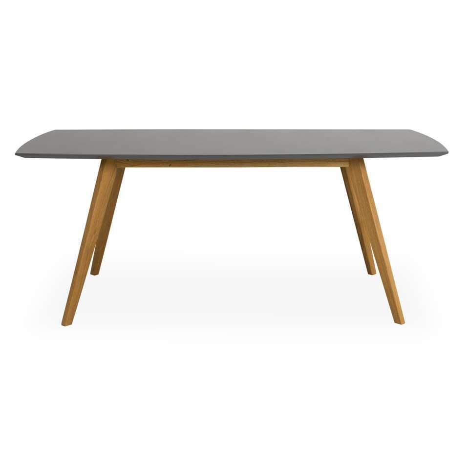 Tenzo eetkamertafel Bess - grijs/eikenkleur - 75x160x95 cm