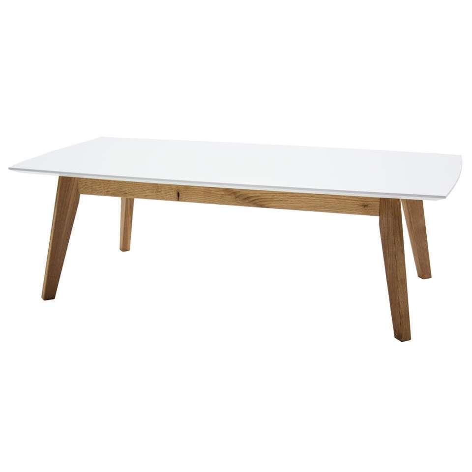 Tenzo salontafel Bess - wit/eiken - 38x120x60 cm