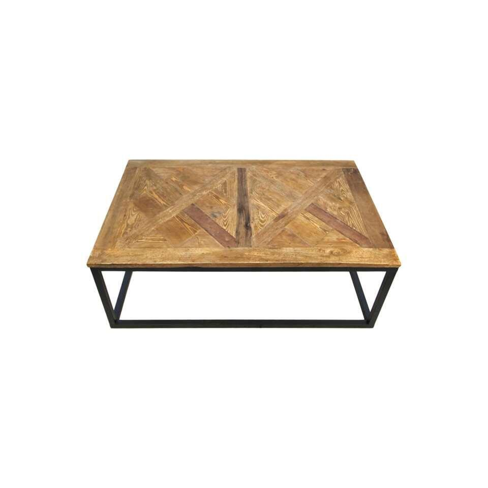 HSM Collection salontafel Jorn - naturel/zwart - 40x110x70 cm
