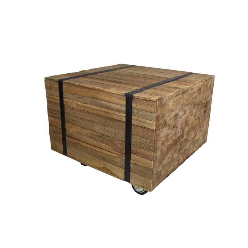 HSM Collectionsalontafel Singa - bruin/zwart - 50x50 cm