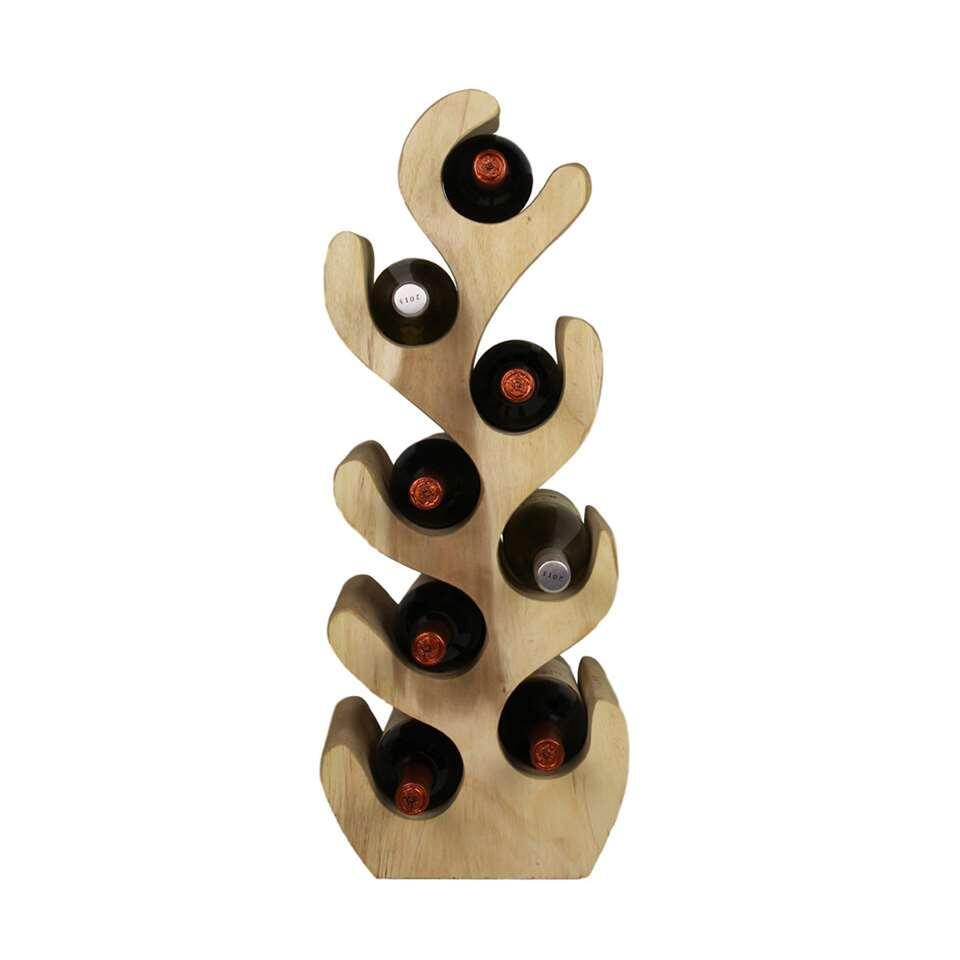 HSM Collection flessenrek Vagos - suarhout - 27x20x72 cm