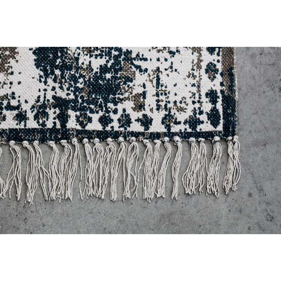 HSM Collection vloerkleed Caserta - teal/beige - 160x230 cm - Leen Bakker