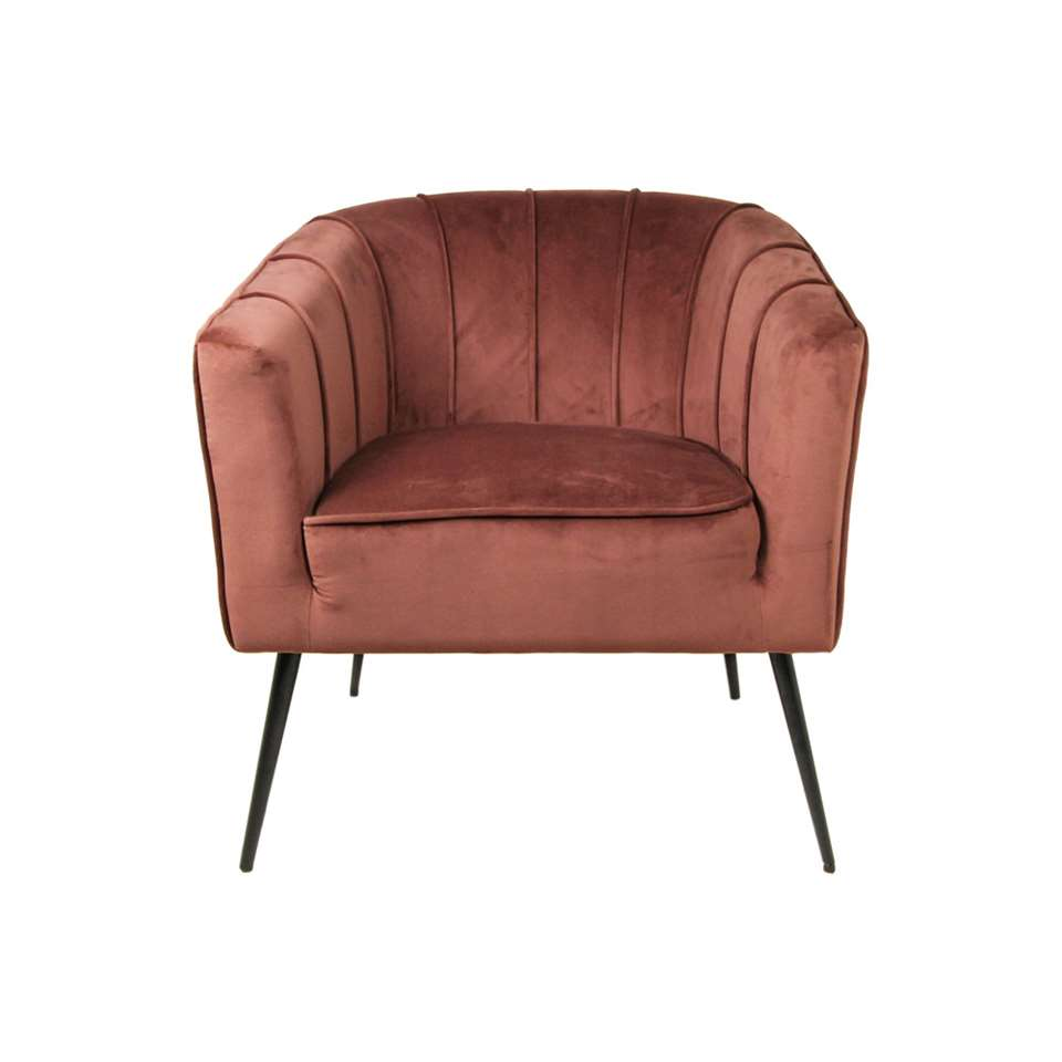 HSM Collection fauteuil Chester - velvet - champagne