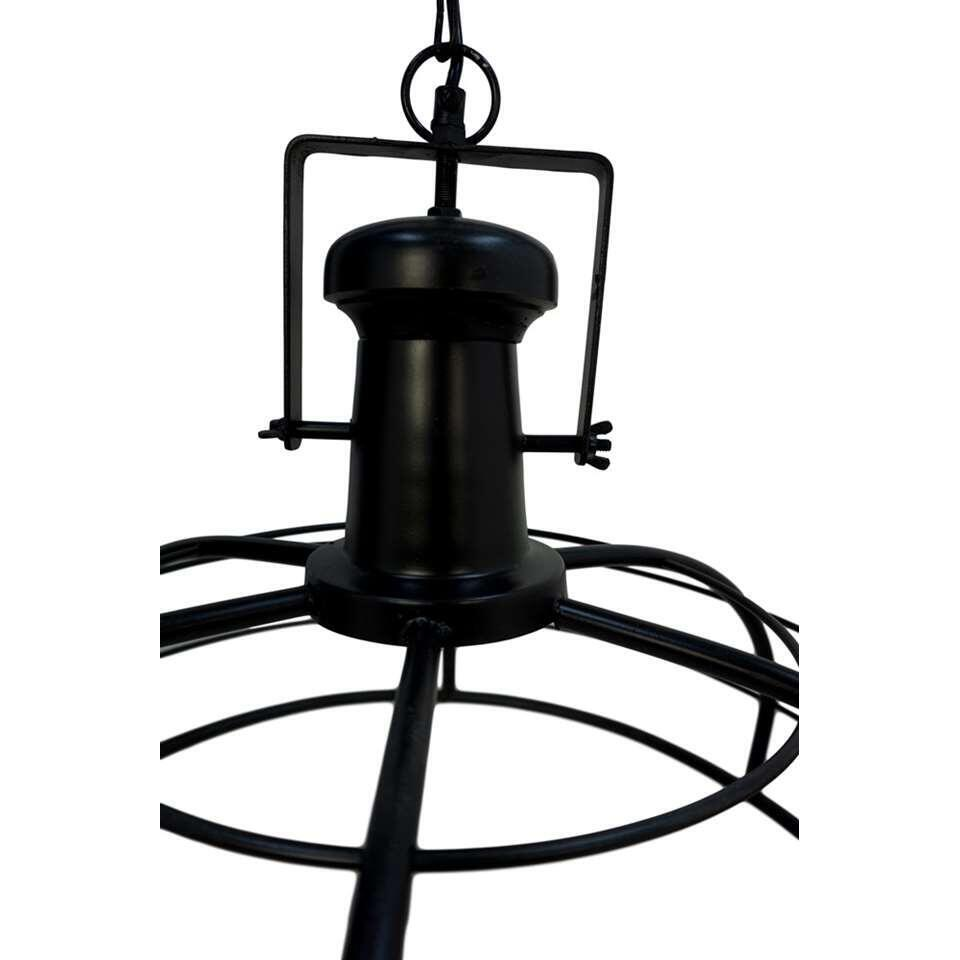 HSM Collection hanglamp Crown - zwart - 43x60x60 cm - Leen Bakker