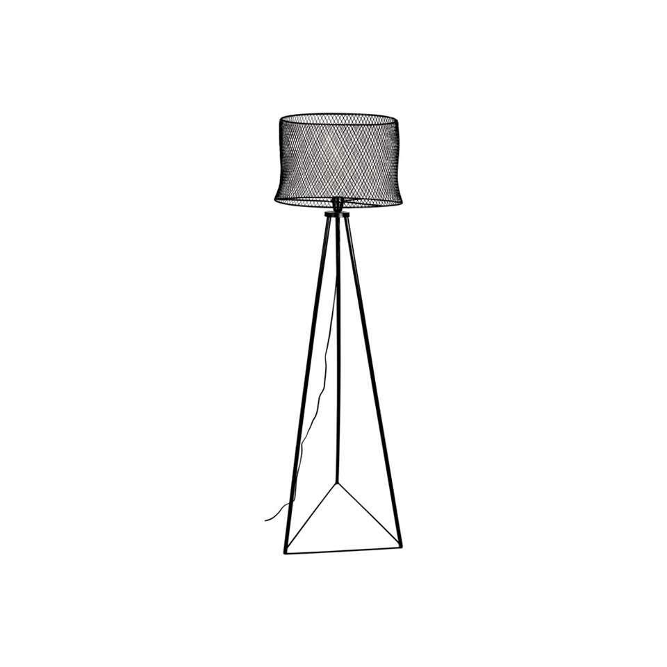 HSM Collection vloerlamp Laxo - zwart - 30x50x160 cm - Leen Bakker