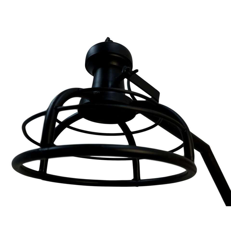 HSM Collection vloerlamp Crown - zwart - 25x25x152 cm - Leen Bakker