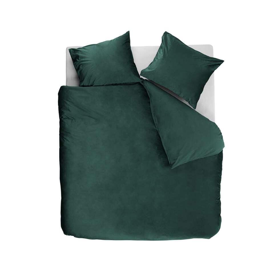 At Home by Beddinghouse dekbedovertrek Tender - groen - 140x220/220 cm - Leen Bakker