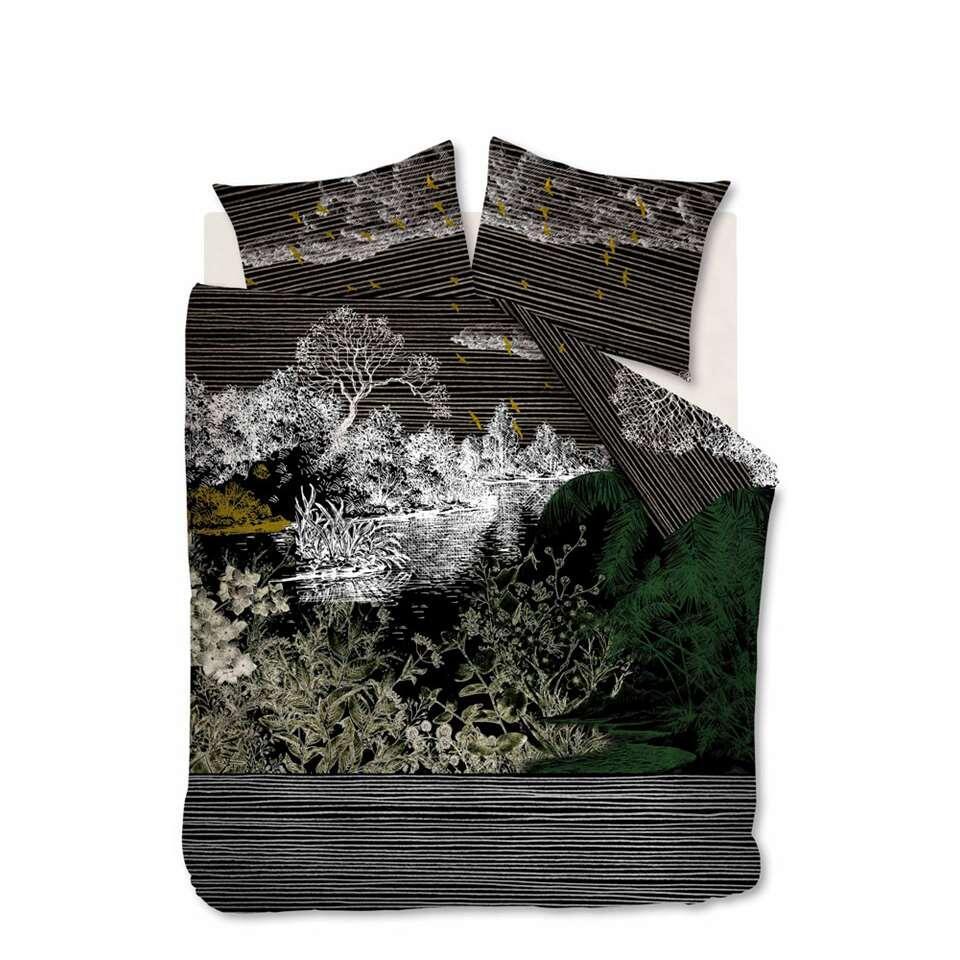 At Home by Beddinghouse dekbedovertrek Tales - zwart - 240x200/220 cm - Leen Bakker