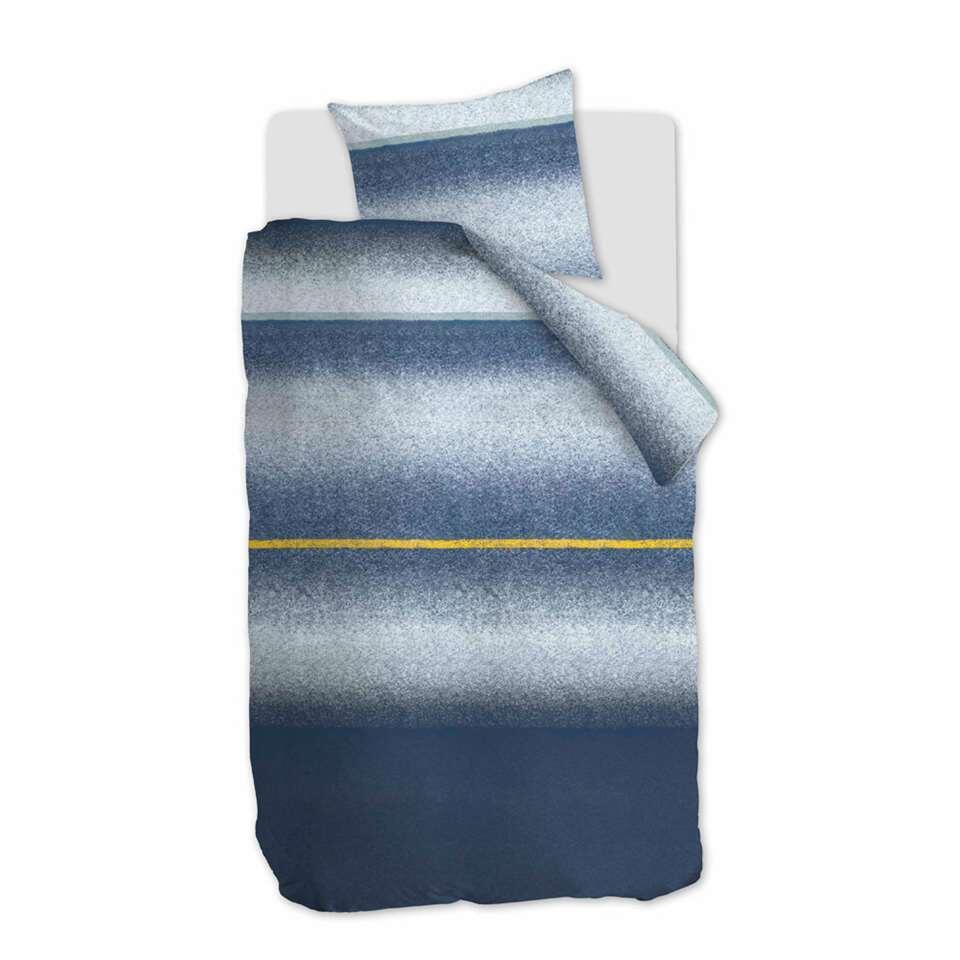 At Home by Beddinghouse dekbedovertrek Camden - blauw - 140x200/220 cm - Leen Bakker