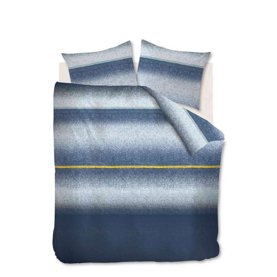 At Home by Beddinghouse dekbedovertrek Camden - blauw - 200x200/220 cm - Leen Bakker