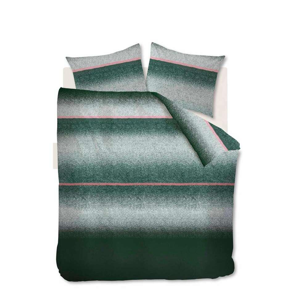 At Home by Beddinghouse dekbedovertrek Camden - groen - 200x200/220 cm - Leen Bakker