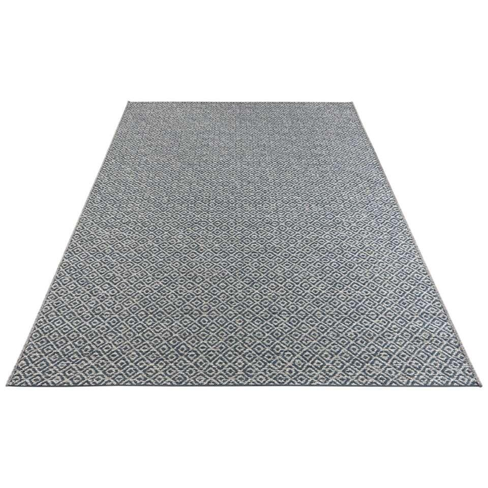 Elle Decor vloerkleed Croix - blauw - 80x150 cm - Leen Bakker
