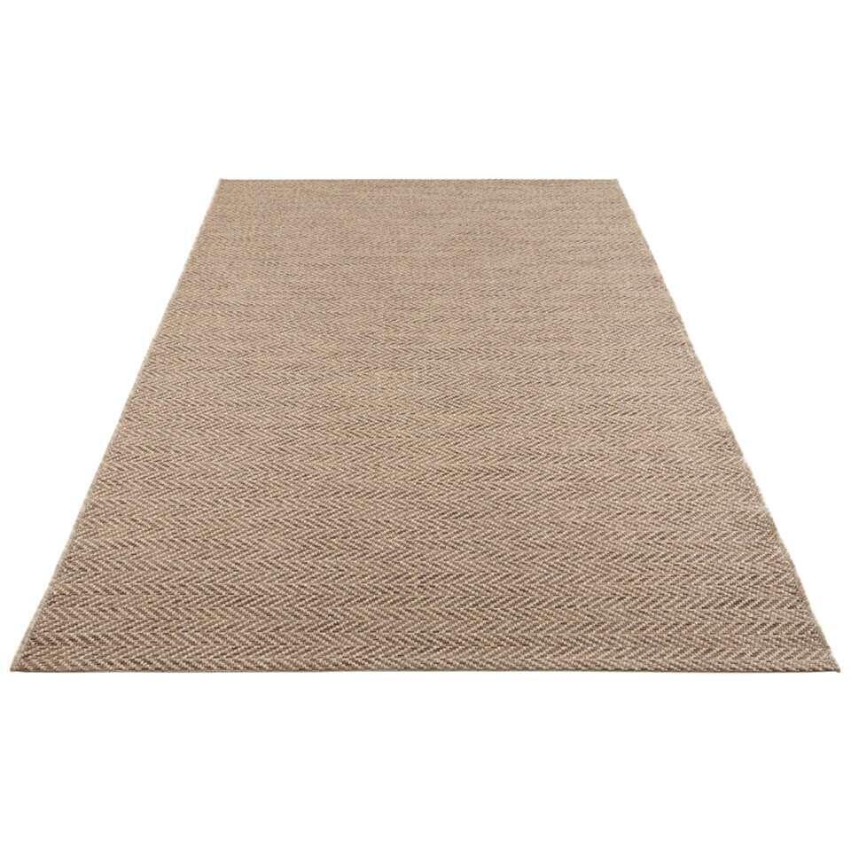 Elle Decor vloerkleed Caen - naturel/bruin - 80x150 cm - Leen Bakker