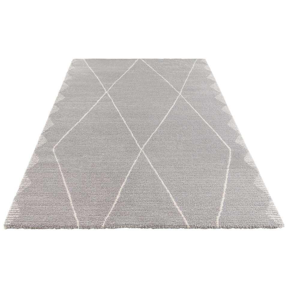 Elle Decor vloerkleed Beane - grijs/crème - 160x230 cm - Leen Bakker