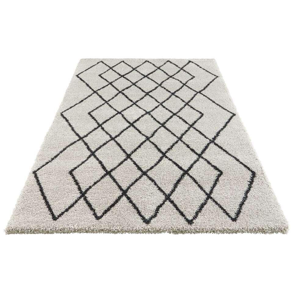 Elle Decor vloerkleed Bron - zilver/antraciet - 200x290 cm - Leen Bakker