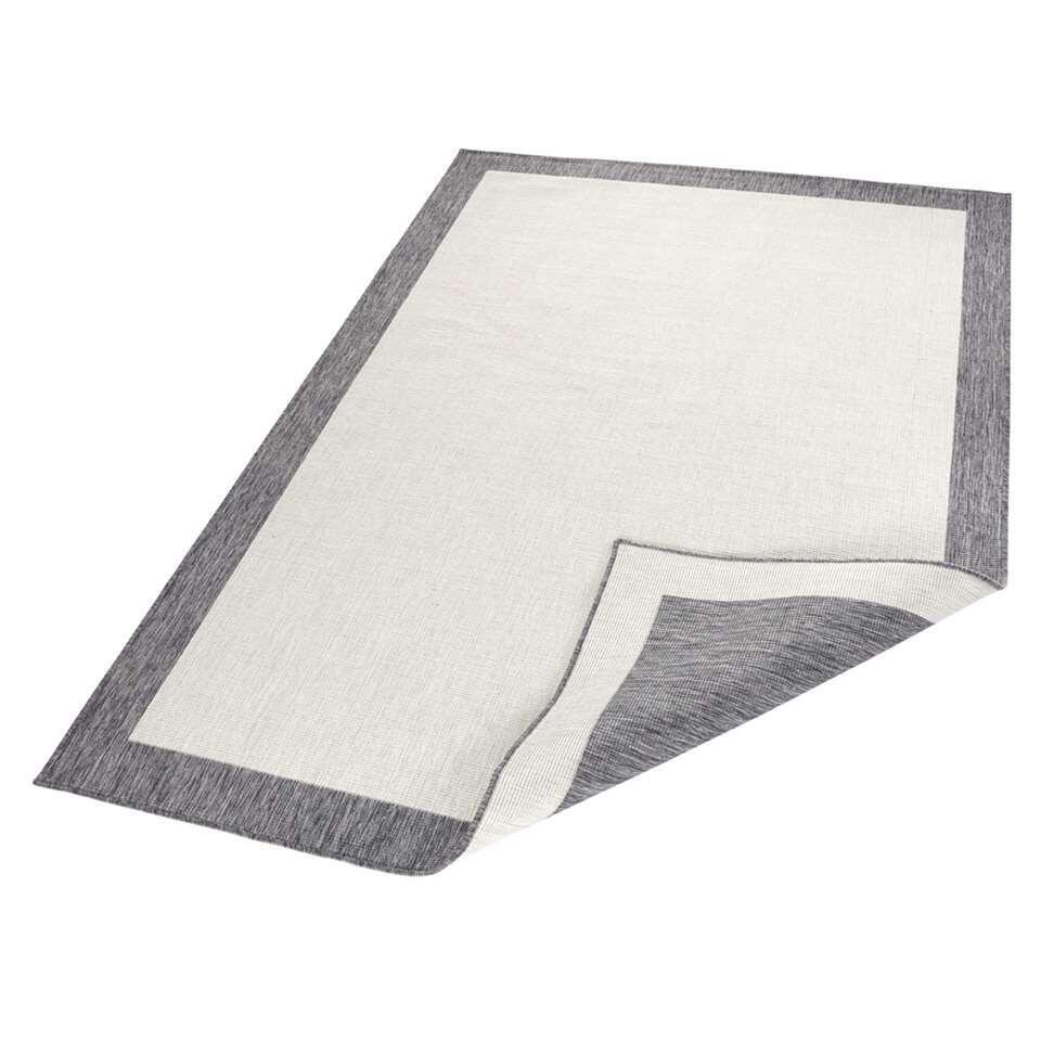 Bougari vloerkleed Panama - grijs/crème - 160x230 cm - Leen Bakker