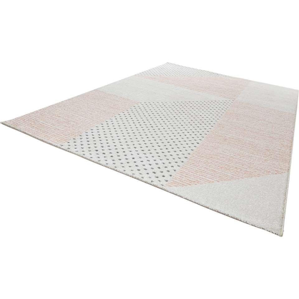 Mint Rugs vloerkleed Glaze - crème/roze - 200x290 cm - Leen Bakker
