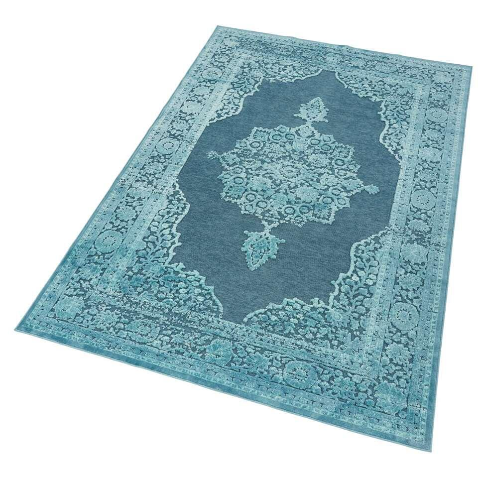 Mint Rugs vloerkleed Willow - blauw - 200x300 cm - Leen Bakker