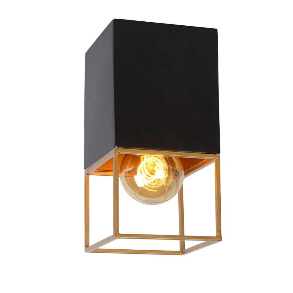 Lucide plafonnière Rixt - zwart - 10x10x18 cm