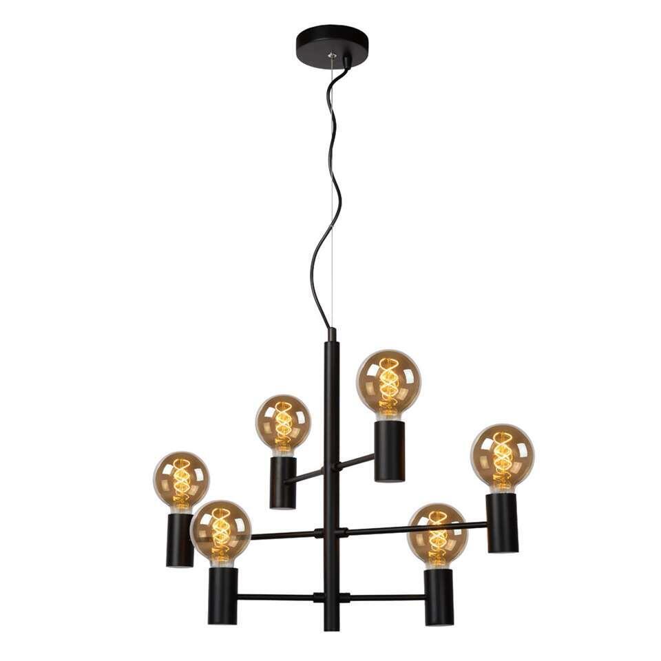 Lucide hanglamp Leanne - zwart - 65x32x175 cm