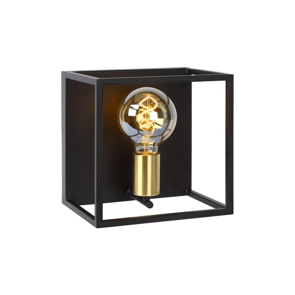 Lucide wandlamp Ruben - zwart - 22x18x22 cm