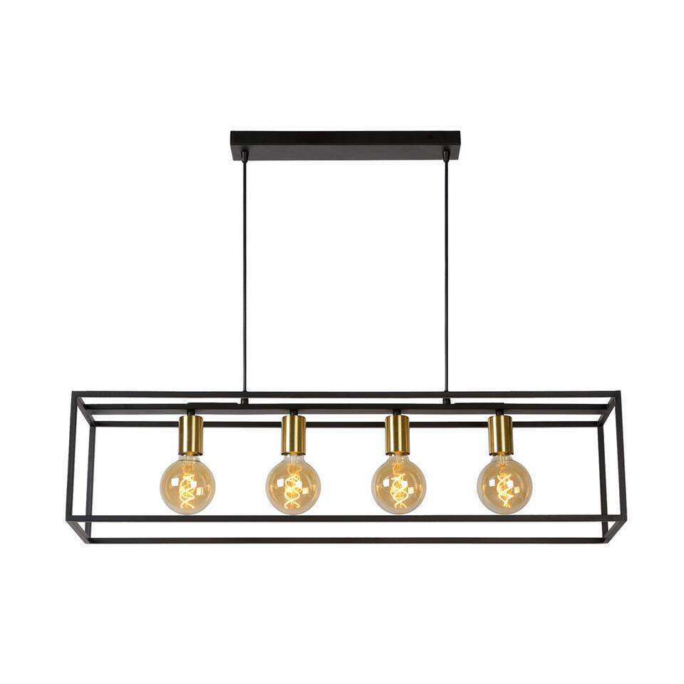 Lucide hanglamp Ruben - zwart - 92x22x150 cm