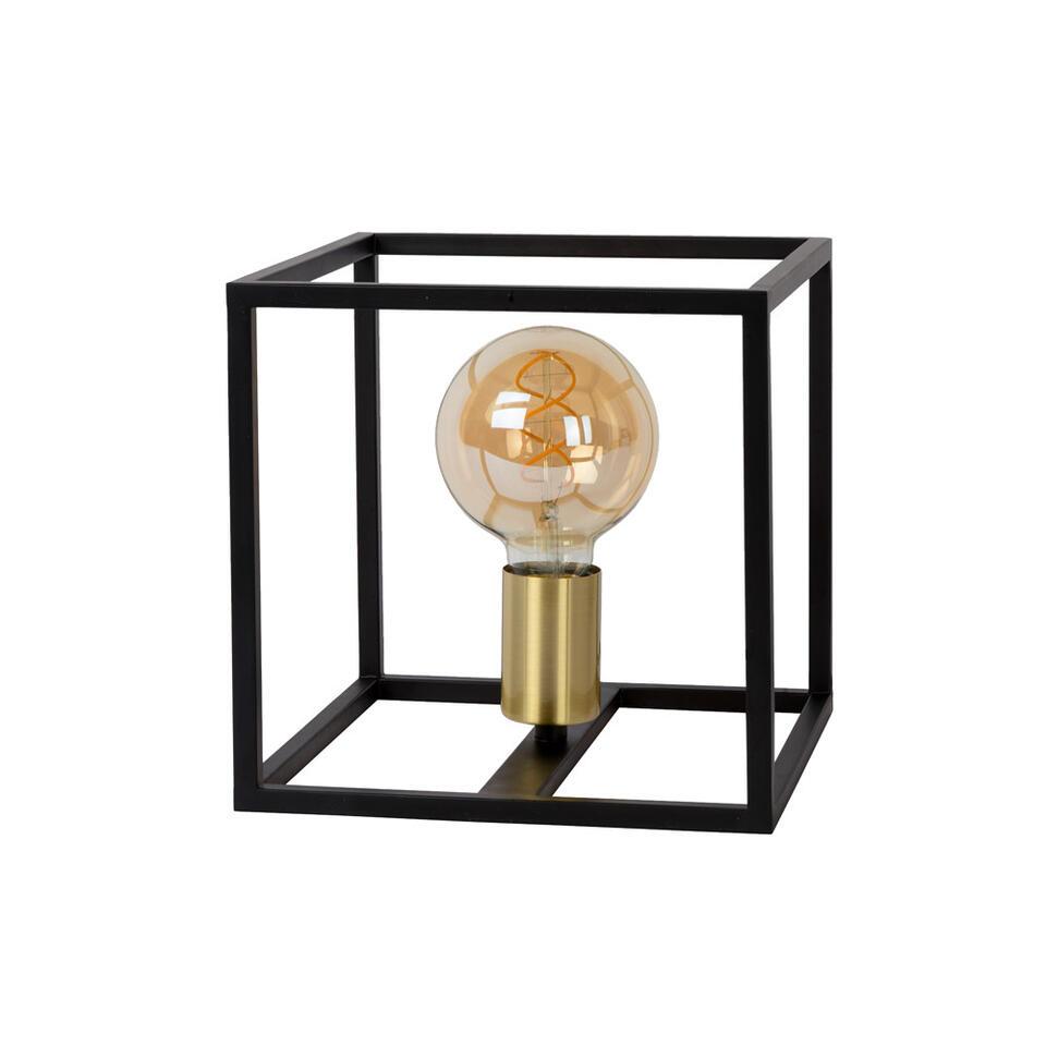 Lucide tafellamp Ruben - zwart - 22x22x22 cm