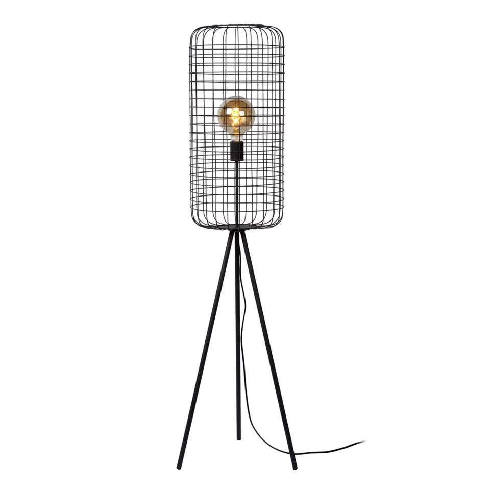 Lucide vloerlamp Esmee – zwart – 31×145 cm – Leen Bakker