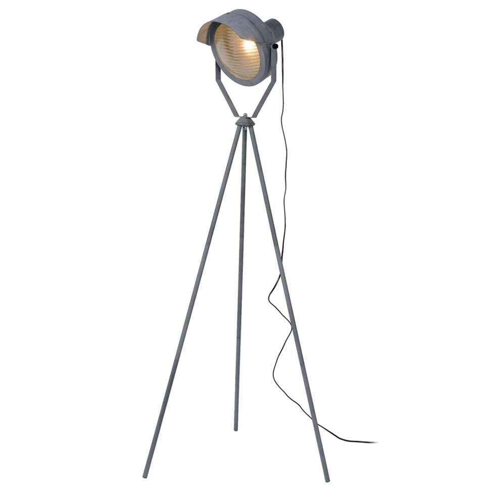 Lucide vloerlamp Cicleta - grijs - 71,5x71,5x154 cm - Leen Bakker