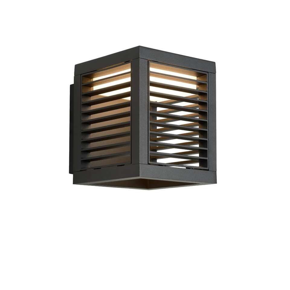 Lucide wandlamp Slits - antraciet - 13x16,8x15,4 cm
