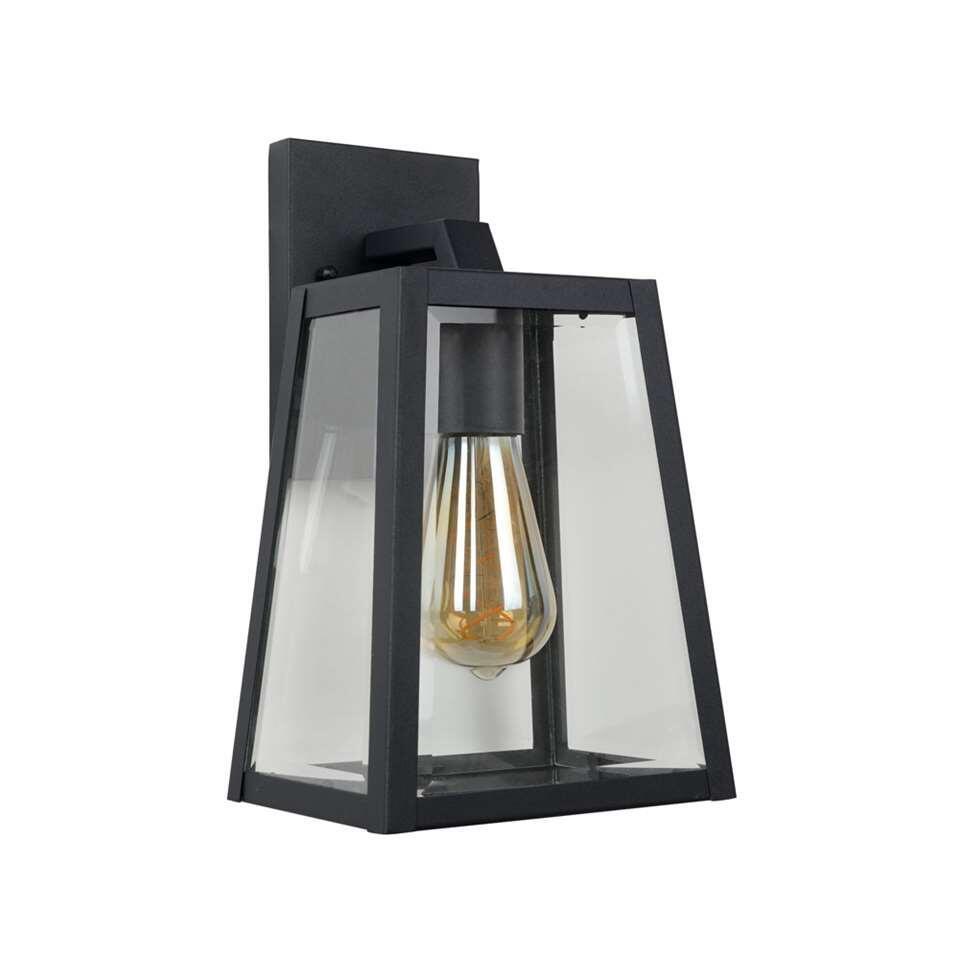 Lucide wandlamp Matslot - zwart - 18x16,5x30,5 cm
