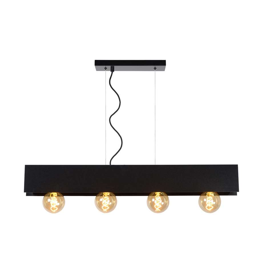 Lucide hanglamp Surtus - zwart - 90x7x130 cm