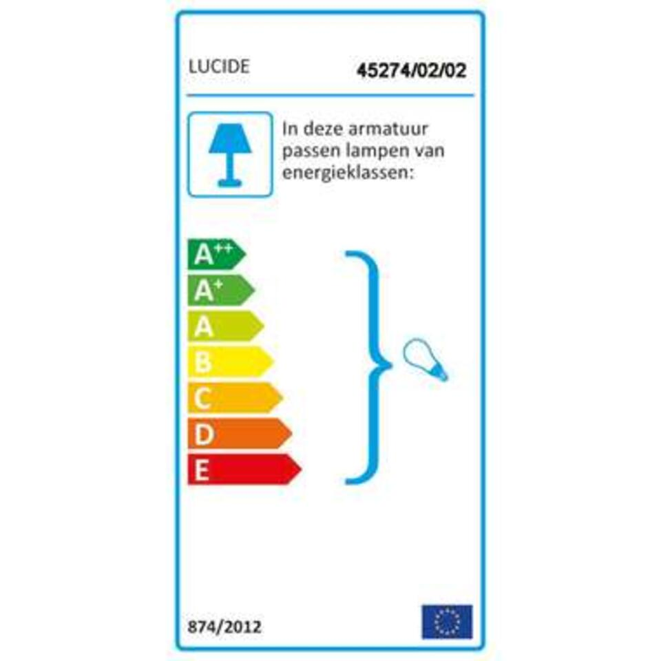 Lucide wandlamp Tycho - mat goud - 12x12x22 cm