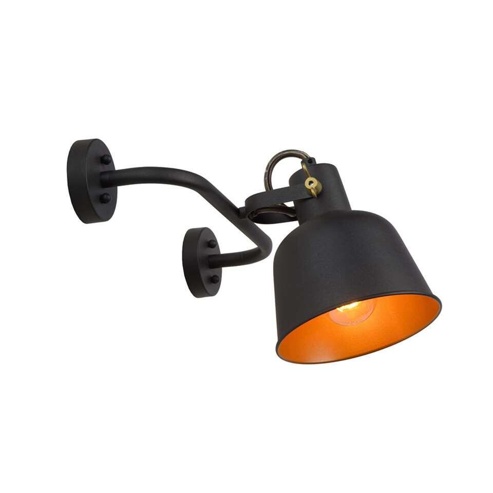 Lucide wandlamp Pia - zwart - 37,5x26,5x19,5 cm