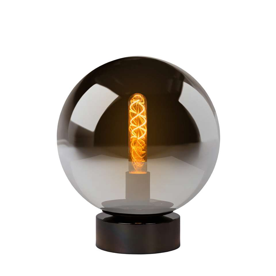 Lucide tafellamp Jorit - grijs - 25x30 cm