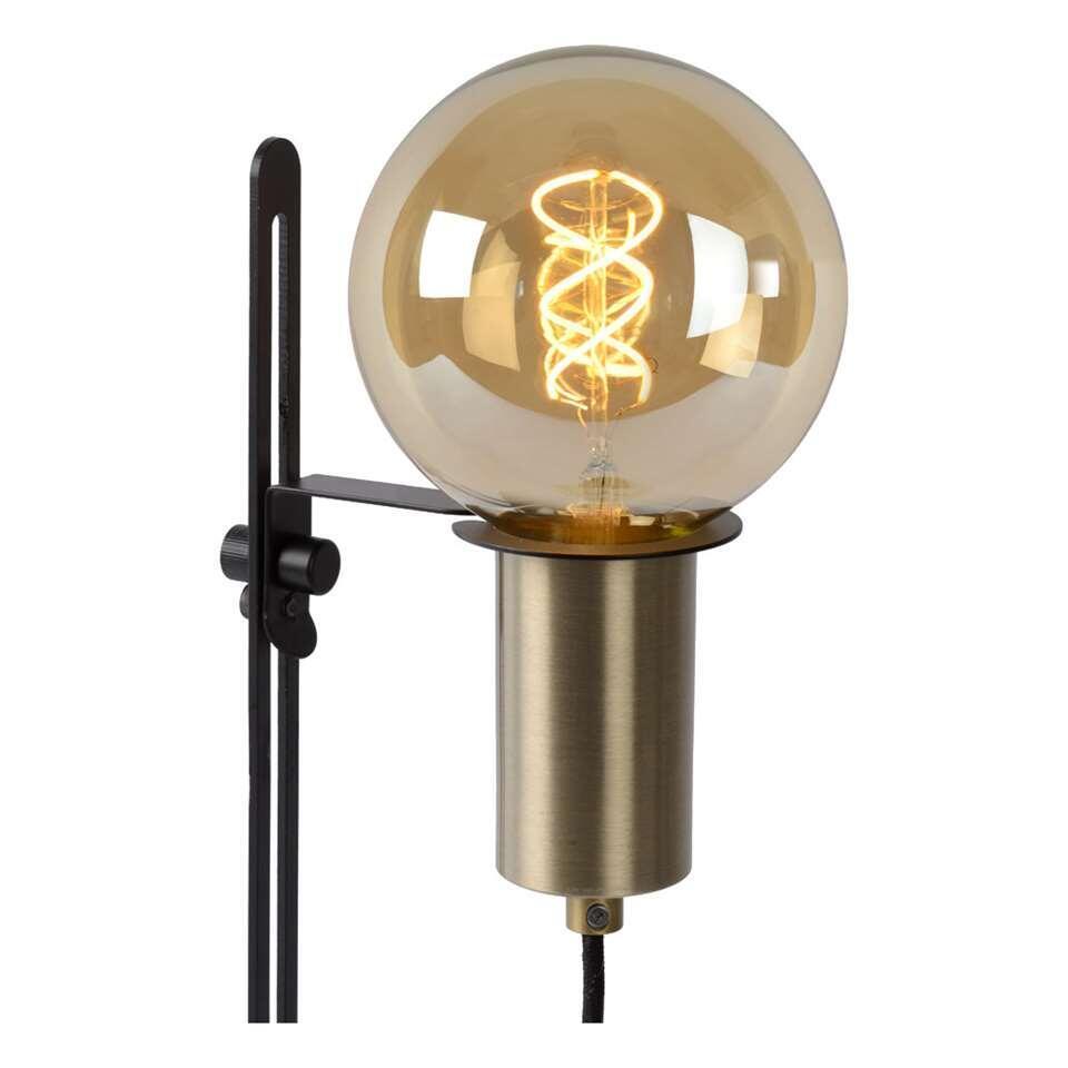 Lucide tafellamp Malcolm - zwart - 23x39,5 cm